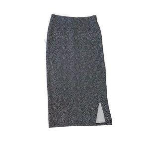 14th and Union Midi Pencil Skirt Black/White Small
